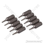 T7 Cr-V Screwdriver Bits 10pk - T7