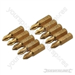 Phillips Diamond Screwdriver Bits 10pk - PH1