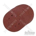 Hook & Loop Sanding Disc 10pk - 125mm 80 Grit