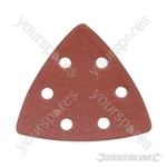 Hook & Loop Triangle Sheets 90mm 10pk - 120 Grit