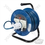 Industrial Cable Reel 16A 230V Freestanding - 2-Gang 25m