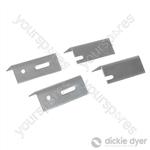 Replacement Radiator Brackets 4pk - 76mm