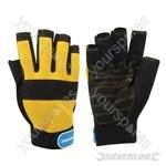 Fingerless Mechanics Gloves - Large