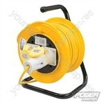 Cable Reel 16A 110V Freestanding - 2-Gang 25m