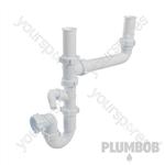 Double-Bowl Sink Trap Kit - 40mm