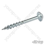 "Zinc Pocket-Hole Screws Washer Head Coarse - No.8 x 1-1/2"" 100pk"