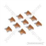 ATT Low Profile Mini Automotive Blade Fuses 10pk - 7.5A Brown