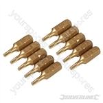 T10 Gold Screwdriver Bits 10pk - T10