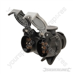 Twin Plug to Socket Towing Adaptor - 7-Pin N & S-Type to 13-Pin
