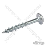 "Zinc Pocket-Hole Screws Washer Head Coarse - No.8 x 1-1/4"" 1200pk"