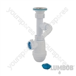 Telescopic Bottle Trap with Waste & Washing Machine Outlet - 40mm