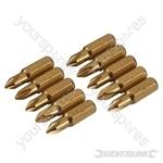 Phillips Gold Screwdriver Bits 10pk - PH1