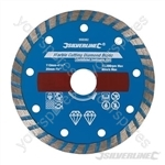 Marble Cutting Diamond Blade - 110 x 20mm Castellated Continuous Rim