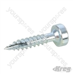 "Zinc Pocket-Hole Screws Pan Head Fine - No.6 x 3/4"" 1200pk"