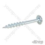 "Zinc Pocket-Hole Screws Washer Head Coarse - No.8 x 1-1/2"" 250pk"