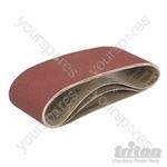 Aluminium Oxide Sanding Belts 3pk - TCMBS80G Sanding Belts 3pk 80G
