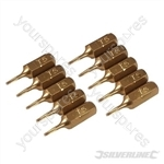 T5 Gold Screwdriver Bits 10pk - T5