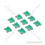 ATT Low Profile Mini Automotive Blade Fuses 10pk - 30A Green