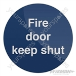 Fire Door Keep Shut Sign - 100 x 100mm Self-Adhesive