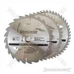 TCT Circular Saw Blades 24, 40, 48T 3pk - 235 x 30 - 25, 16mm Rings