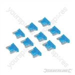 ATT Low Profile Mini Automotive Blade Fuses 10pk - 15A Blue