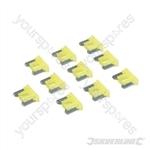 ATT Low Profile Mini Automotive Blade Fuses 10pk - 20A Yellow