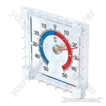 Indoor/Outdoor Stick-On Thermometer - -50° to +50°C