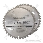TCT Circular Saw Blades 40, 60T 2pk - 250 x 30 - 25, 20, 16mm Rings