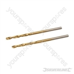 HSS Titanium-Coated Drill Bits 2pk - 2.0mm