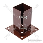 Bolt Down Post Shoe - 75 x 75mm